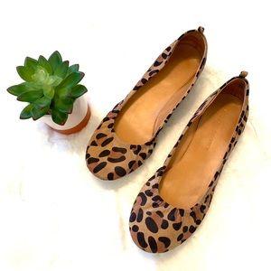 Audrey Brooke Leopard Newport Ballet Flat
